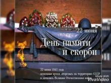 Embedded thumbnail for Ко Дню Памяти и скорби. Таловский центр культуры